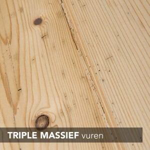 triple massief vuren