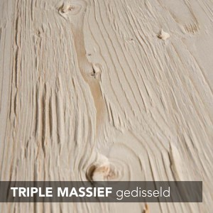 triple massief gedisseld
